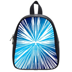 Color Blue Background Structure School Bag (small)