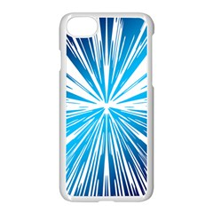 Color Blue Background Structure Apple Iphone 7 Seamless Case (white)