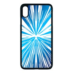 Color Blue Background Structure Apple Iphone Xs Max Seamless Case (black)
