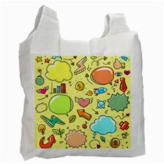 Cute Sketch Child Graphic Funny Recycle Bag (one Side)