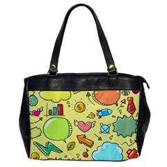 Cute Sketch Child Graphic Funny Oversize Office Handbag