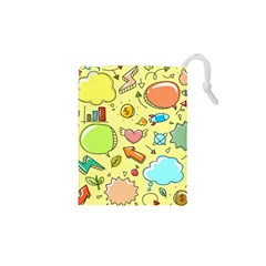 Cute Sketch Child Graphic Funny Drawstring Pouch (xs)