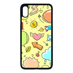 Cute Sketch Child Graphic Funny Apple Iphone Xs Max Seamless Case (black) by Alisyart