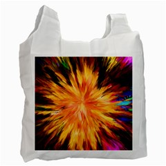 Color Background Structure Lines Rainbow Paint Recycle Bag (one Side) by Alisyart