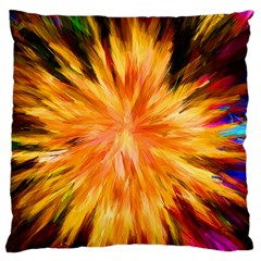 Color Background Structure Lines Rainbow Paint Large Cushion Case (one Side) by Alisyart