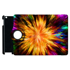 Color Background Structure Lines Rainbow Paint Apple Ipad 3/4 Flip 360 Case by Alisyart
