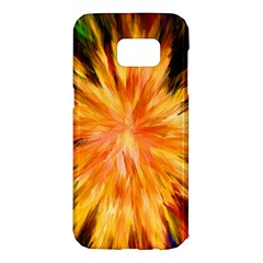 Color Background Structure Lines Rainbow Paint Samsung Galaxy S7 Edge Hardshell Case