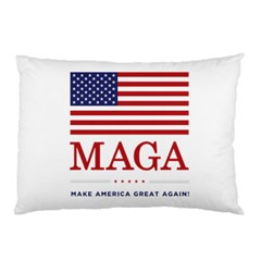 Maga Make America Great Again With Usa Flag Pillow Case (two Sides) by snek