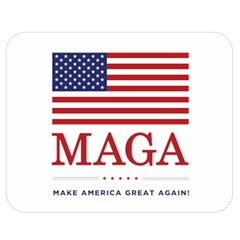 Maga Make America Great Again With Usa Flag Double Sided Flano Blanket (medium)