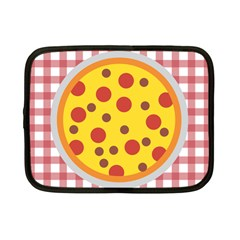 Pizza Table Pepperoni Sausage Netbook Case (small) by Pakrebo