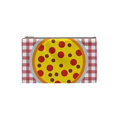 Pizza Table Pepperoni Sausage Cosmetic Bag (small) by Pakrebo