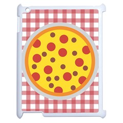 Pizza Table Pepperoni Sausage Apple Ipad 2 Case (white) by Pakrebo