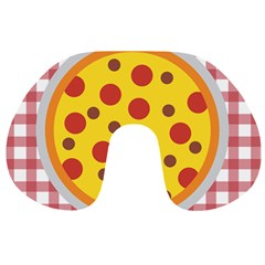 Pizza Table Pepperoni Sausage Travel Neck Pillows