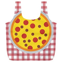 Pizza Table Pepperoni Sausage Full Print Recycle Bag (xl)