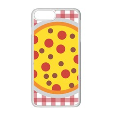 Pizza Table Pepperoni Sausage Apple Iphone 8 Plus Seamless Case (white)