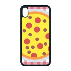 Pizza Table Pepperoni Sausage Apple Iphone Xr Seamless Case (black)