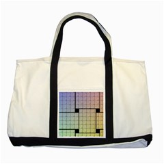 Construction Rectangle Steel Metal Two Tone Tote Bag by Pakrebo
