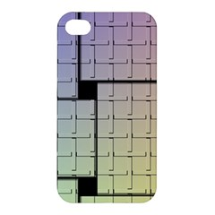 Construction Rectangle Steel Metal Apple Iphone 4/4s Hardshell Case