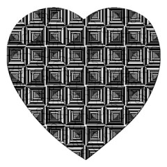 Pattern Op Art Black White Grey Jigsaw Puzzle (heart)