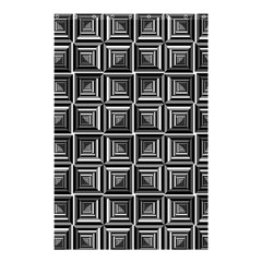 Pattern Op Art Black White Grey Shower Curtain 48  X 72  (small)