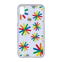 Celebrate Pattern Colorful Design Apple Iphone Xr Seamless Case (white)