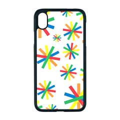Celebrate Pattern Colorful Design Apple Iphone Xr Seamless Case (black)