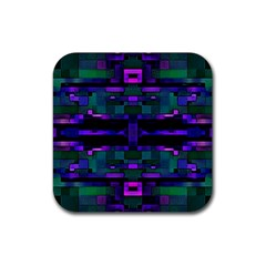 Abstract Pattern Desktop Wallpaper Rubber Coaster (square)