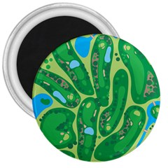 Golf Course Par Golf Course Green 3  Magnets