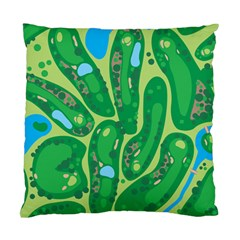 Golf Course Par Golf Course Green Standard Cushion Case (two Sides)