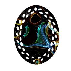 Abstract Background Pattern Ornament (oval Filigree)