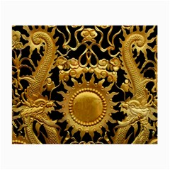 Golden Sun Gold Decoration Wall Small Glasses Cloth (2 Side) by Pakrebo