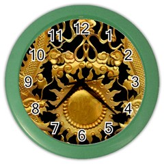 Golden Sun Gold Decoration Wall Color Wall Clock