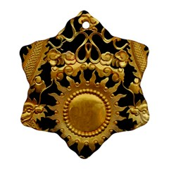 Golden Sun Gold Decoration Wall Snowflake Ornament (two Sides)