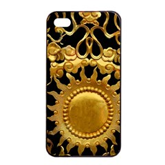 Golden Sun Gold Decoration Wall Apple Iphone 4/4s Seamless Case (black) by Pakrebo
