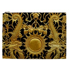 Golden Sun Gold Decoration Wall Cosmetic Bag (xxl) by Pakrebo