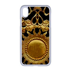 Golden Sun Gold Decoration Wall Apple Iphone Xr Seamless Case (white)