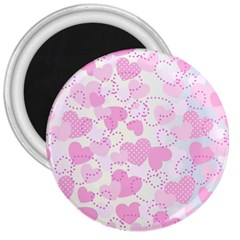 Valentine Background Hearts Bokeh 3  Magnets