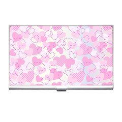 Valentine Background Hearts Bokeh Business Card Holder
