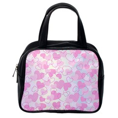 Valentine Background Hearts Bokeh Classic Handbag (one Side)