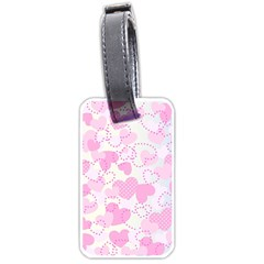 Valentine Background Hearts Bokeh Luggage Tags (one Side)