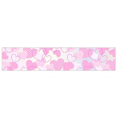 Valentine Background Hearts Bokeh Small Flano Scarf