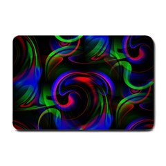 Swirl Background Design Colorful Small Doormat