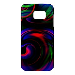 Swirl Background Design Colorful Samsung Galaxy S7 Edge Hardshell Case