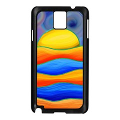 Paint Painting Landscape Scene Samsung Galaxy Note 3 N9005 Case (black)