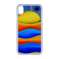 Paint Painting Landscape Scene Apple Iphone Xr Seamless Case (white)