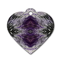 Pattern Abstract Horizontal Dog Tag Heart (two Sides)