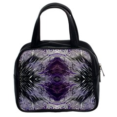 Pattern Abstract Horizontal Classic Handbag (two Sides)
