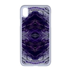 Pattern Abstract Horizontal Apple Iphone Xr Seamless Case (white)