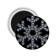 Snowflake Abstract Pattern Shape 2 25  Magnets