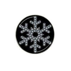 Snowflake Abstract Pattern Shape Hat Clip Ball Marker